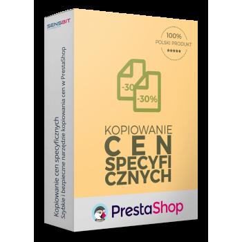 Kopiowanie cen specyficznych produktu dla PrestaShop 1.5, 1.6 i 1.7