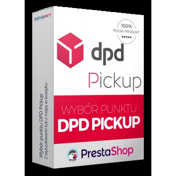 Wybór punktu DPD Pickup Polska dla PrestaShop - wyszukiwarka - mapa