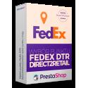 Wybór punktu FedEx DTR (Direct2Retail) w koszyku PrestaShop